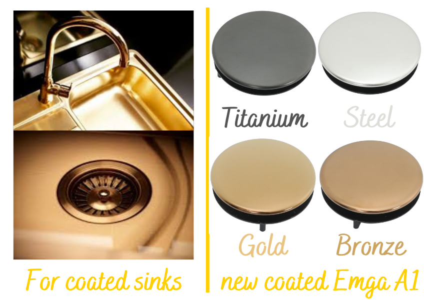 For coated sinks